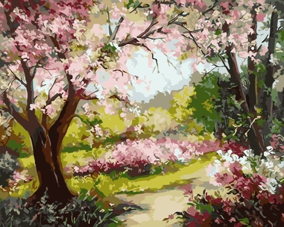 Картина по номерам 50*65 см AS0650 Весеннее цветение