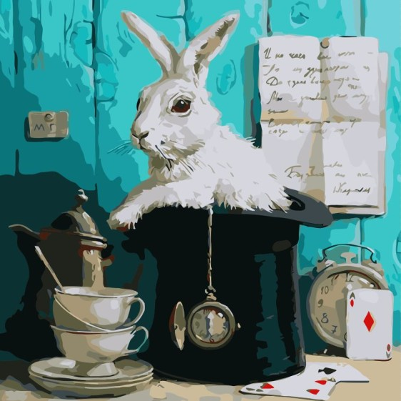 Картина по номерам 40*40 см AS0323 Сказочный кролик