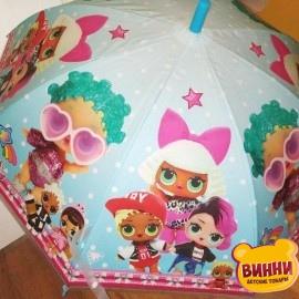 Зонтик с героями ЛОЛ голубой UM5262