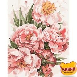 Картина по номерам Пионы для любимой, 40*50 см KHO3046