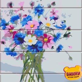 Роспись по номерам на дереве Цветы из сада 30*40 см, ASW046