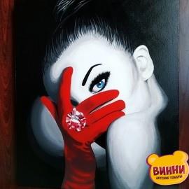 Готовая картина Девушка с красной перчаткой, 50*60 см