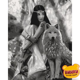 Картина по номерам Волчица, 40*50 см КНО4139