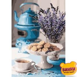 Картина по номерам Лавандовое чаепитие, 35*50 см KHО5558