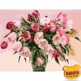 Картина по номерам Тюльпаны в вазе, 40*50 см KHO1072