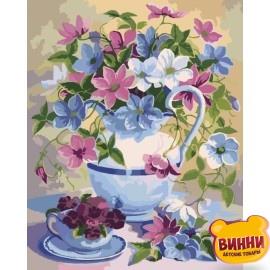 Картина по номерам Цветочная поэзия, Идейка 40*50 см KHО2049