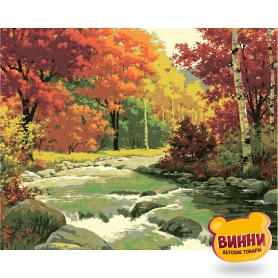 Картина по номерам Золотая осень, Идейка 40*50 см KHО2125