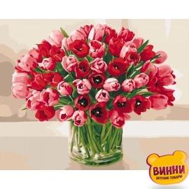 Картина по номерам Жгучие тюльпаны, Идейка 40*50 см KHО3058