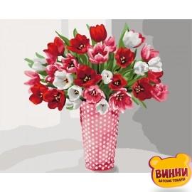 Картина по номерам Разнообразие тюльпанов, Идейка 40*50 см KHО3062