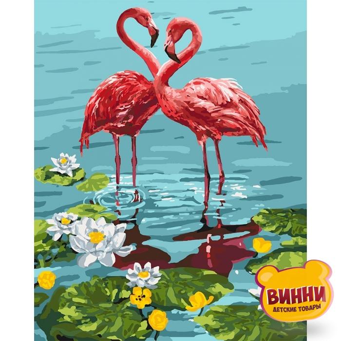 Картина по номерам Пара фламинго, Идейка 40*50 см KHО4144