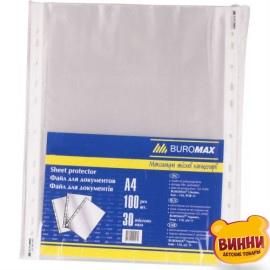 """Файл А4+ глянц. """"BuroMAX"""" 40 мк прозрачный (100 шт) BM3805"""