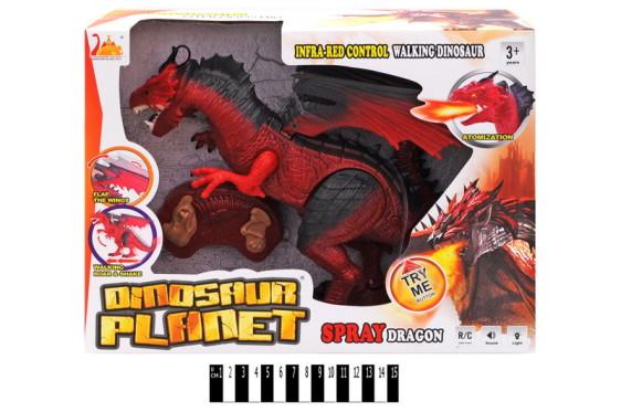 Динозавр на р/у, дышит пламенем, с муз и свет. в кор. 41*30*12,5см /20-2/