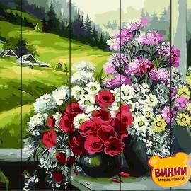 Картина по номерам на дереве Горный букет 40*50 см, GXT9500