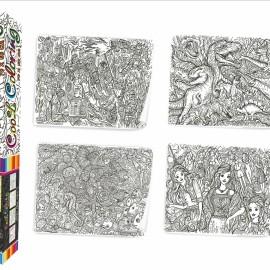 "Розмальовка MAXI ""Cool coloring для дітей віком 8+"" в кор. 53*7*7см Стратег //"