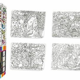 "Розмальовка MAXI ""Cool coloring для дітей віком 4+"" в кор. 53*7*7см Стратег //"