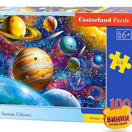 """Кастор пазлы 100 """"Солнечная система"""" 40*29 см, B-111077"""