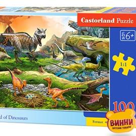 """Кастор пазлы 100 """"Мир динозавров"""" 40*29 см, B-111084"""