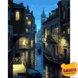 Купить картину по номерам Mariposa Ночная Венеция, худ.Е.Лушпин 40*50 см Q1191
