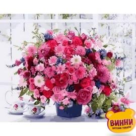 Картина по номерам Розовые хризантемы, 40*50 см Q1233