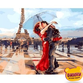 Картина по номерам Париж- город влюбленных, 40*50 см Q1431
