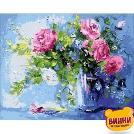 Картина по номерам Небесно-розовый букет, 40*50 см Q1440