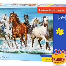 """Кастор пазлы 200 """"Лошади"""" 40*29 см, B-222056"""