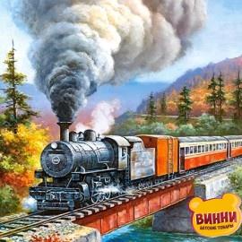 "Кастор пазлы 200 ""Железная дорога"" 40*29 см, B-222070"