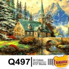 Картина по номерам Альпийский пейзаж. Часовня, 40*50 см Mariposa Q497
