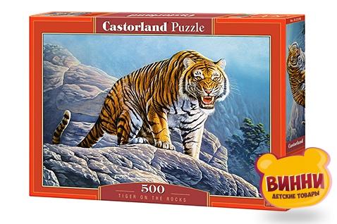 """Кастор пазлы 500 """"Тигр на скалах"""" 47*33 см, B-53346"""