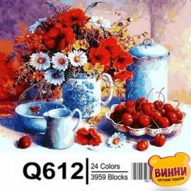 Картина по номерам Черешни и маки, 40*50 см Mariposa Q612