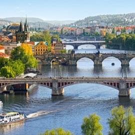 """Кастор пазлы 4000 """"Мосты через Влтаву, Прага"""" 138*68"""