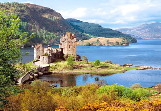 "Кастор пазлы 2000 ""Замок ""Eilean Donan"", Шотландия ""92*68"