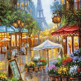 """Кастор пазлы 1000 """"Весенние цветы, Париж""""68*47"""