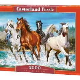 "Кастор пазлы 2000 ""Бегущие лошади"" 92*68"