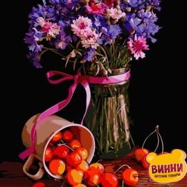 Картина по номерам 40*50 см AS0680 Цветочный натюрморт