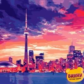 Картина по номерам 40*50 см AS0689 Ночной Торонто