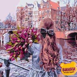 Картина по номерам 40*50 см AS0691 Прогулка по Амстердаму