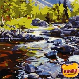 Картина по номерам 40*50 см AS0711 Река в горах