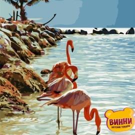 Картина по номерам 40*50 см AS0740 Фламинго