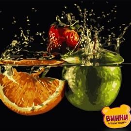 Картина по номерам 40*50 см AS0770 Спелые фрукты