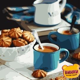 Картина по номерам 40*50 см AS0776 Ароматный завтрак