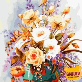 Картина по номерам 30*40 см AS0779 Пастельные розы
