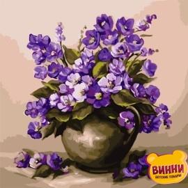 Картина по номерам 40*40 см AS0805 Пурпурные цветы