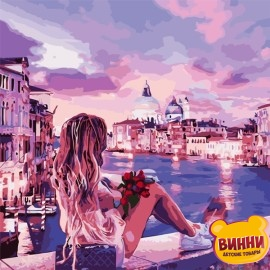 Картина по номерам 40*40 см AS0810 Вечер в Венеции