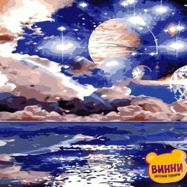 Картина по номерам 50*65 см AS0828 Космический пейзаж