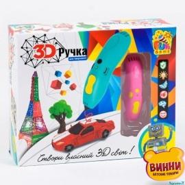 Ручка 3D цвет голубой, в коробке, FUN GAME 7424