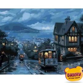 Купить картину по номерам Mariposa Ночной трамвай, 40*50 см, Q1306