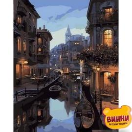 Купить картину по номерам Mariposa Ночные каналы Венеции, 40*50 см, Q1311