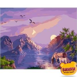Купить картину по номерам Babylon Закат в горах, 40*50 см VP182