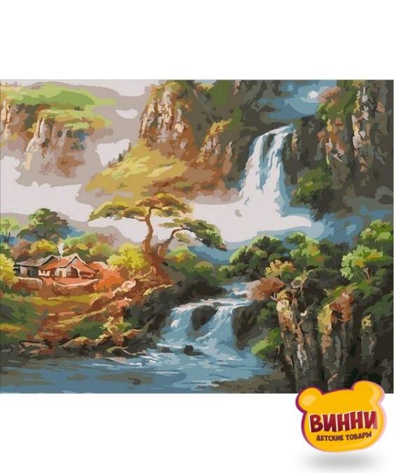 Купить картину по номерам Mariposa Китайская деревушка, 40*50 см Q1864